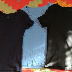 A New Day Pack of 3 large blue and black t-shirts